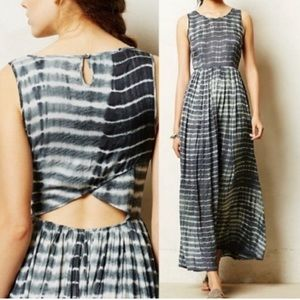 Neuw Tie Dye Cut Out Maxi Dress Anthropologie M